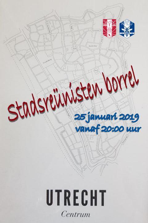 🍻 Stadsreunistenborrel  regio Utrecht